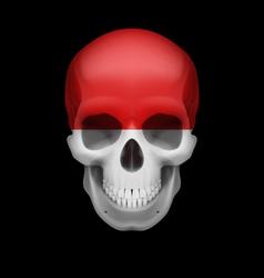 Monacan flag skull vector