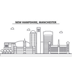 new hampshire manchester architecture line vector image vector image