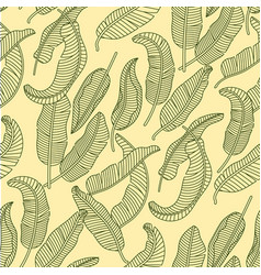 Seamless pattern with tropical banana vector