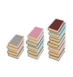 Set pile of books on a white background vector image