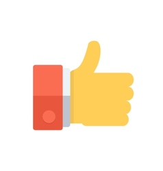 Thumb uo like symbol vector image