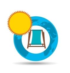 vacation around world sunny beach chair vector image