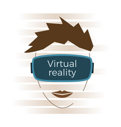 virtual reality concept vector image vector image