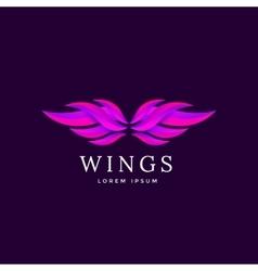 Wings emblem vector image