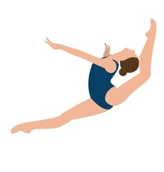 woman girl female gymnastics move position jumping vector image vector image