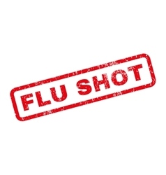 Flu Shot Rubber Stamp vector image