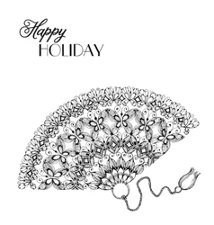 lace ornament fan vector image