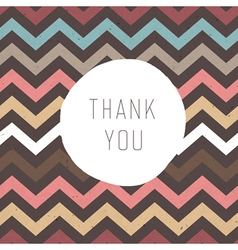 thank you card zigzag vector image