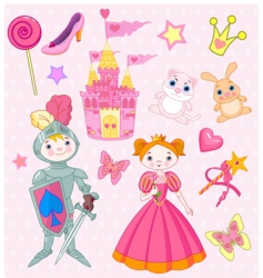 fairy tale elements vector image vector image