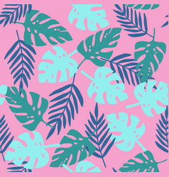 pink tropical pattern vector image