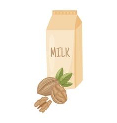 walnut milk vector image