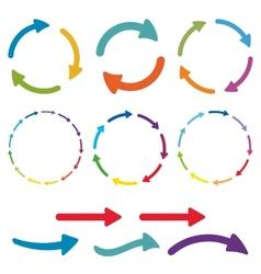 Arrow pictogram set Simple color web icon on vector image
