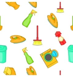 Cleansing pattern cartoon style vector image