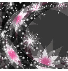Floral background greeting or invitation card with vector image vector image