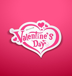 Happy Valentine Day lettering design on pink vector image vector image