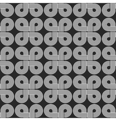 Linear seamless pattern twisted parallel circles vector image vector image