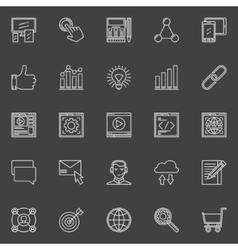 SEO and web optimization icons vector image