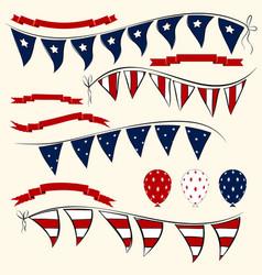 set of patriotic elements vector image