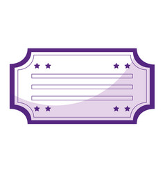 ticket paper isolated icon vector image vector image