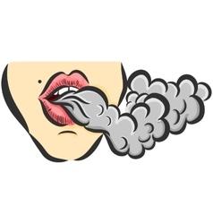 With girl and smoke vector