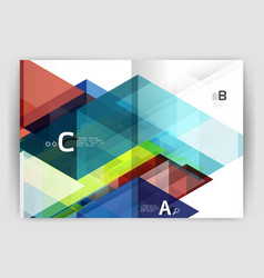 Abstract a4 brochure print template vector