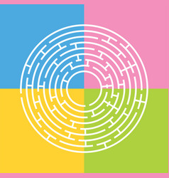 abstract round maze an educational game for vector image