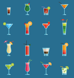 alcoholic cocktails drinks fruit cold vector image