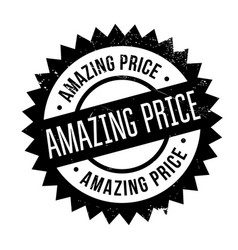 amazing price rubber stamp vector image