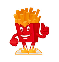 American french fries vector