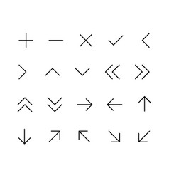 arrow icon set for website and app vector image