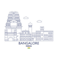 Bangalore city skyline vector