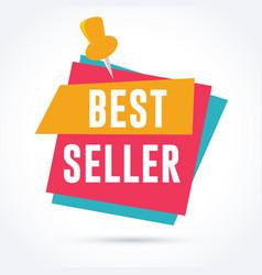 best seller banner vector image