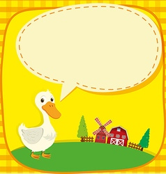 Border design with duck and barns vector