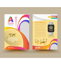 brochure template design with smart watch vector image