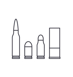bullets on white vector image
