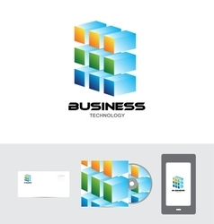 Business corporate technology logo 3d vector