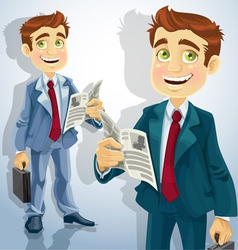 businessman character vector image