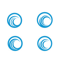 C letter water wave icon vector
