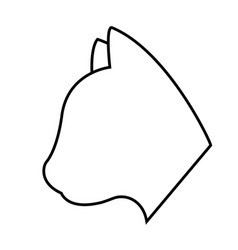 Cat shape icon vector