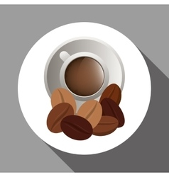 Coffee design breakfast conceptl white vector