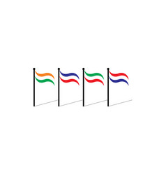 Colorful flags nations symbol vector