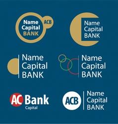 corporate trademark vector image