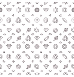 Crystal diamonds miner stones seamless vector