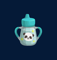 cup bottle baby sipper reservoir isolated icon vector image