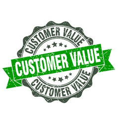 Customer value stamp sign seal vector