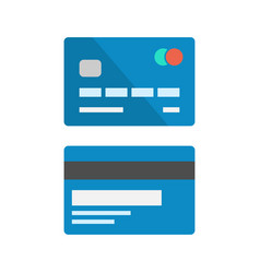 Debit card icon set vector