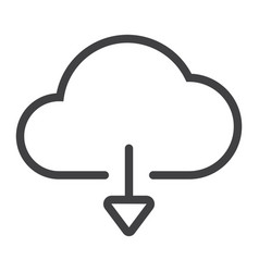 download from cloud line icon web and mobile vector image