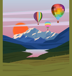 drawing nature landscape template vector image