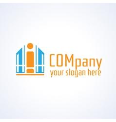 Education information or building company logo vector image
