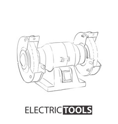 electric sharpener on a white background vector image